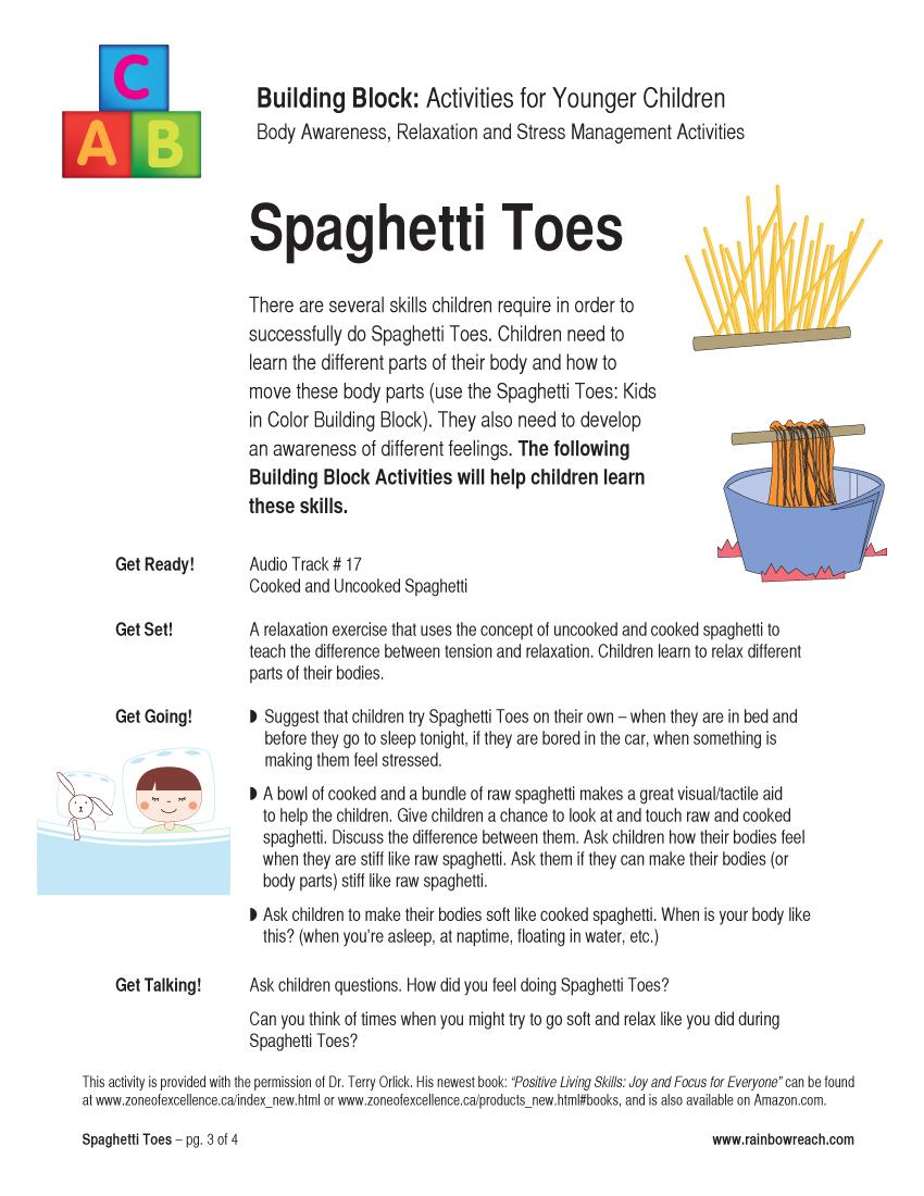 relaxation spaghetti